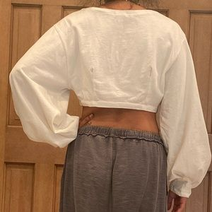 Urban Outfitters Sweaters - Urban outfitters crop cream sweater
